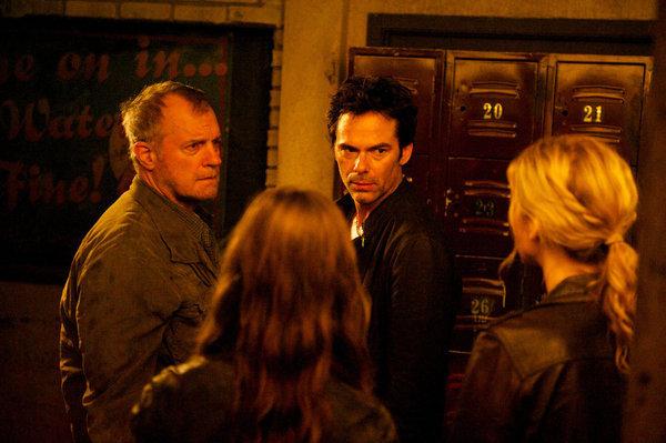 Stephen Collins, Billy Burke, and Elizabeth Mitchell in Revolution (2012)