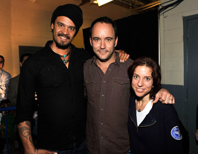 Ani Difranco, Michael Franti, and Dave Matthews