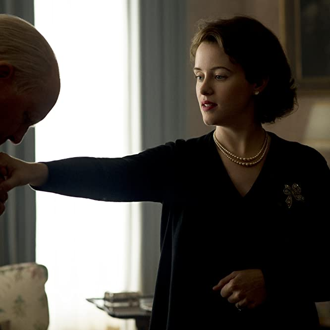 John Lithgow and Claire Foy in The Crown (2016)