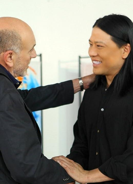 Production still of Garrett Wang and Carmen Argenziano starring in the family tv pilot RISING SUN (2012)