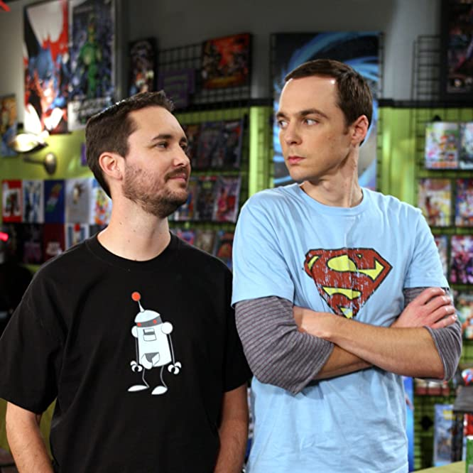 Wil Wheaton and Jim Parsons in The Big Bang Theory (2007)