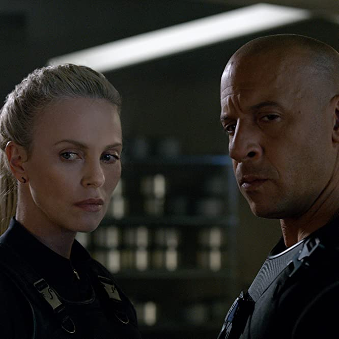 Charlize Theron and Vin Diesel in The Fate of the Furious (2017)