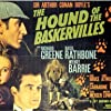 Basil Rathbone, Wendy Barrie, and Richard Greene in The Hound of the Baskervilles (1939)