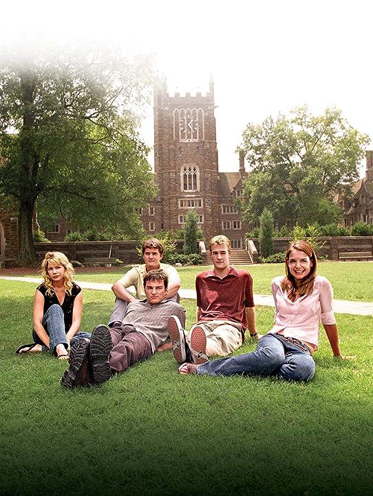 James Van Der Beek, Katie Holmes, Joshua Jackson, Kerr Smith, and Michelle Williams in Dawson's Creek (1998)