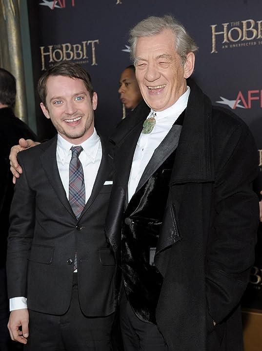 Elijah Wood and Ian McKellen at The Hobbit: An Unexpected Journey (2012)