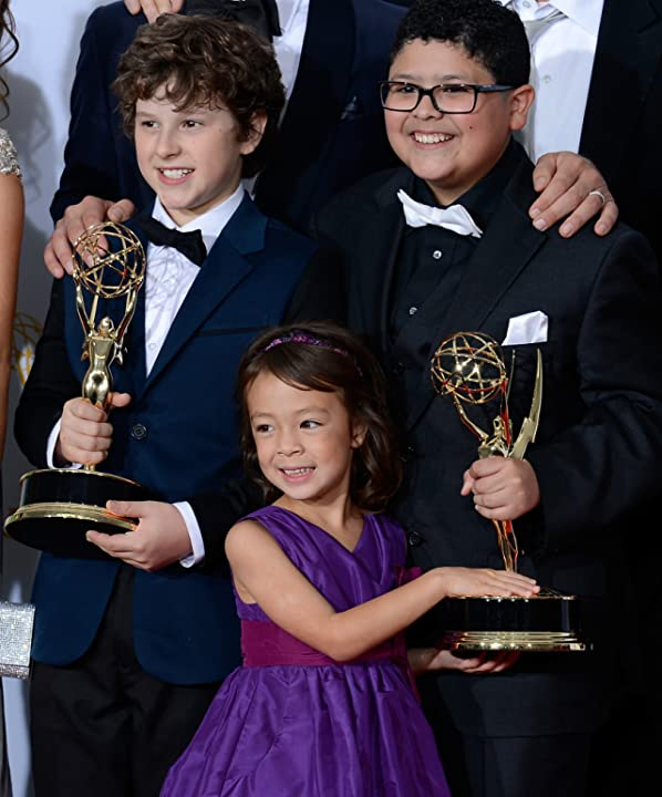 Nolan Gould, Rico Rodriguez, and Aubrey Anderson-Emmons at The 64th Primetime Emmy Awards (2012)