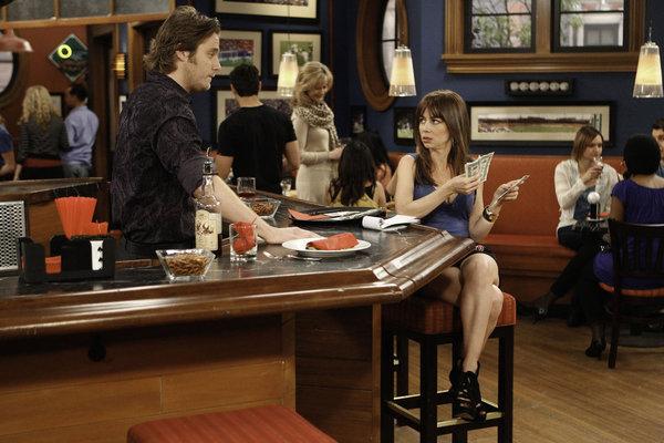 Jake McDorman and Natasha Leggero in Are You There, Chelsea? (2012)