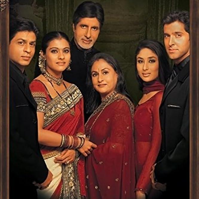 Amitabh Bachchan, Hrithik Roshan, Kajol, Kareena Kapoor, Jaya Bhaduri, and Shah Rukh Khan in Kabhi Khushi Kabhie Gham... (2001)