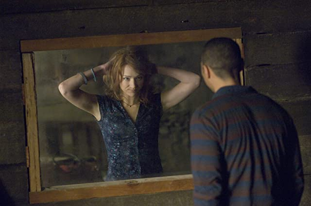 Jesse Williams and Kristen Connolly in The Cabin in the Woods (2012)