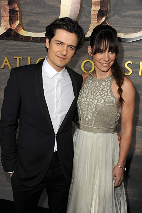 Orlando Bloom and Evangeline Lilly at an event for The Hobbit: The Desolation of Smaug (2013)