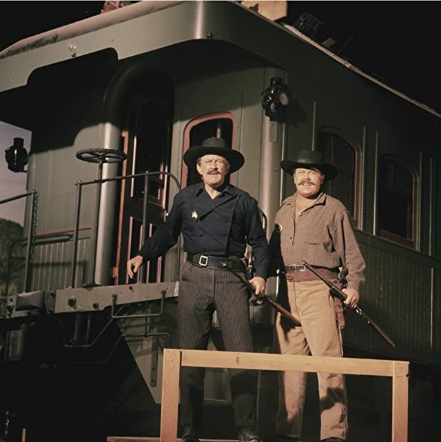 Lee J. Cobb and Mickey Shaughnessy in How the West Was Won (1962)