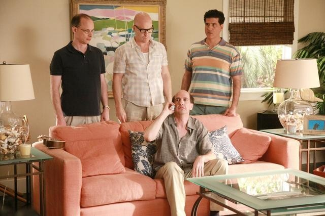 Sam Lloyd, Philip McNiven, and George Miserlis in Cougar Town (2009)