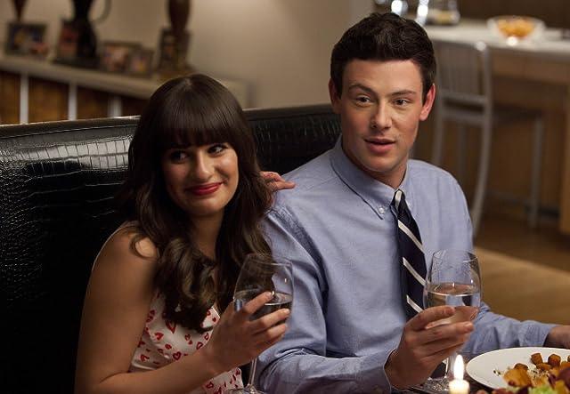 Cory Monteith and Rachel Lea in Glee (2009)