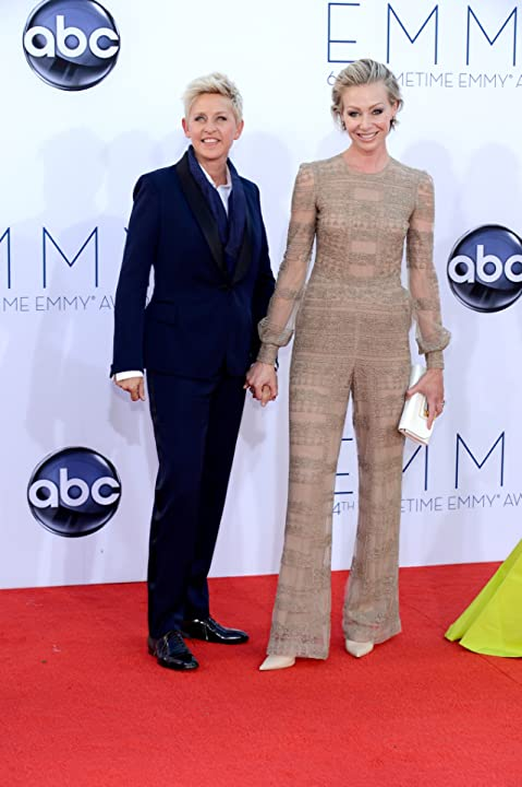 Ellen DeGeneres and Portia de Rossi at an event for The 64th Primetime Emmy Awards (2012)