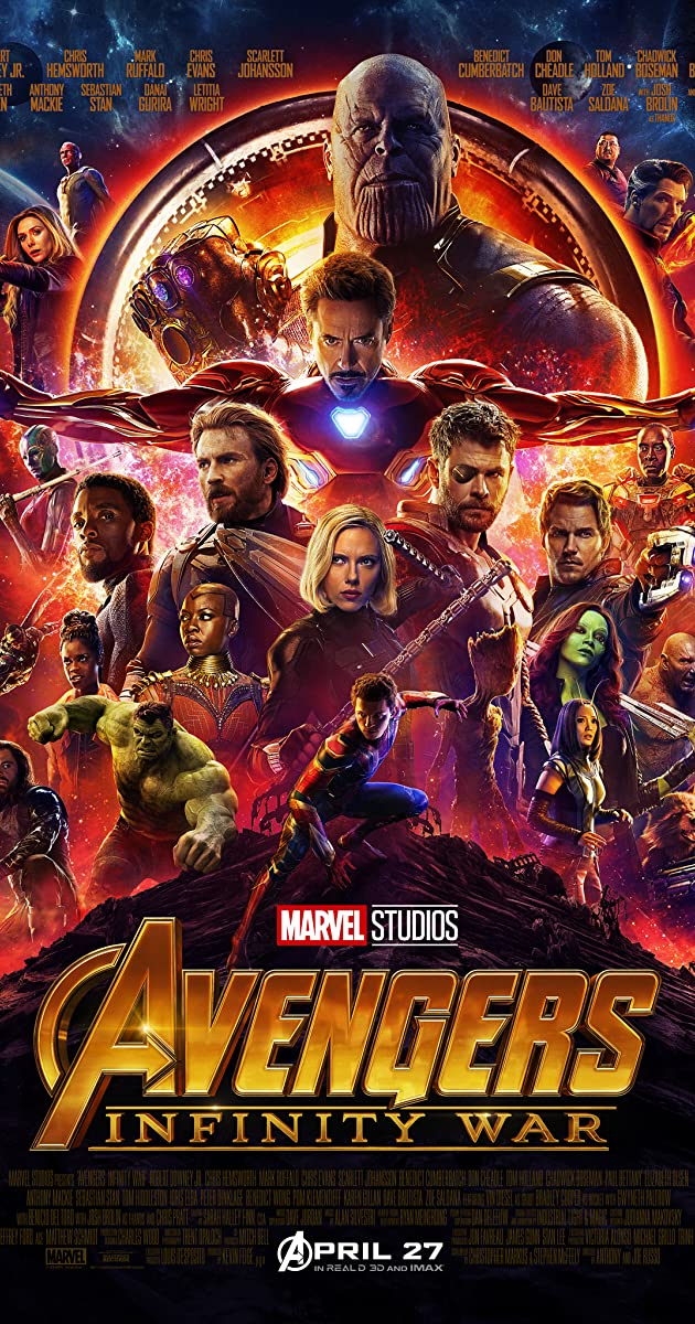 Avengers: Infinity War 2018 (BluRay) - New Hollywood Dubbed Movies