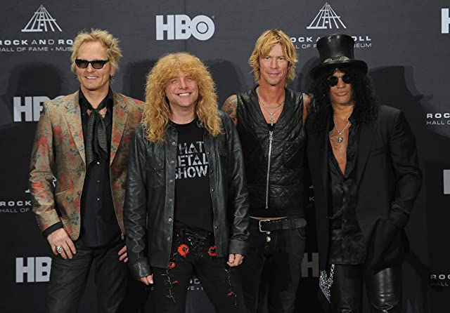 Steven Adler, Duff McKagan, Slash, Matt Sorum, and Guns N' Roses