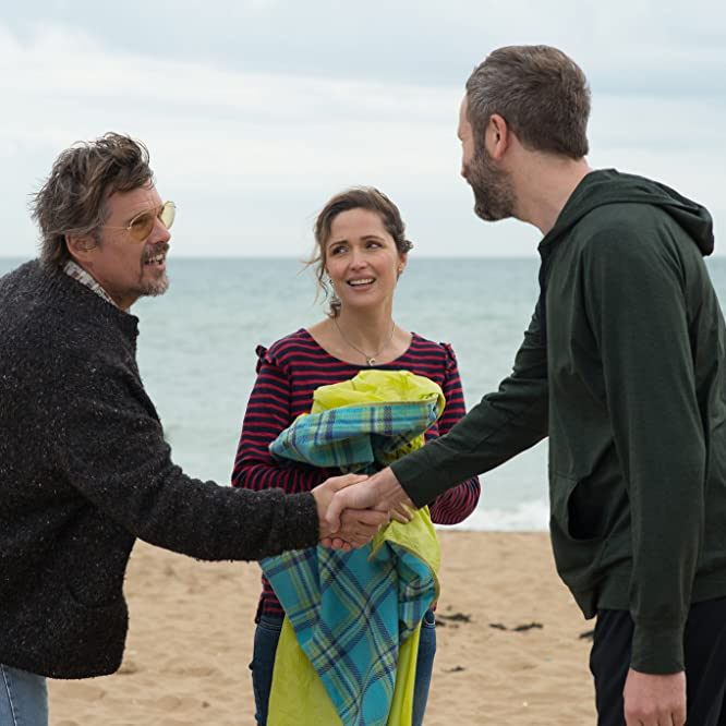 Ethan Hawke, Rose Byrne, and Chris O'Dowd in Juliet, Naked (2018)