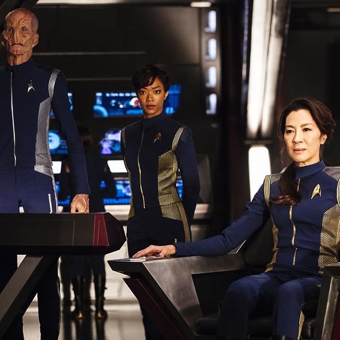 Michelle Yeoh, Doug Jones, and Sonequa Martin-Green in Star Trek: Discovery (2017)