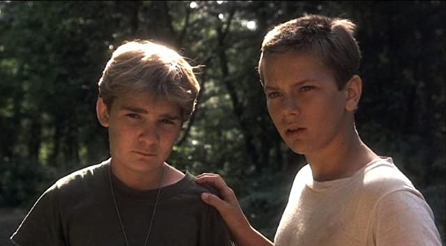 River Phoenix and Corey Feldman in Stand by Me (1986)