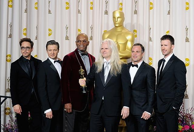 Samuel L. Jackson, Robert Downey Jr., Chris Evans, Claudio Miranda, Jeremy Renner, and Mark Ruffalo