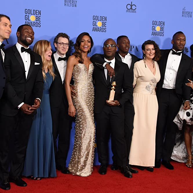 Dede Gardner, Naomie Harris, Mahershala Ali, Jeremy Kleiner, Barry Jenkins, Janelle Monáe, and Shariff Earp at an event for The 74th Golden Globe Awards (2017)