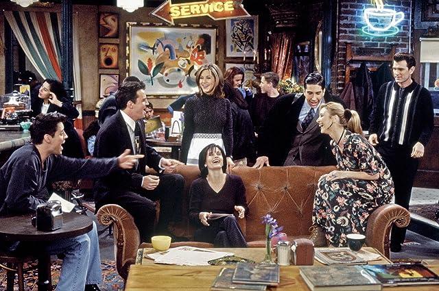 Jennifer Aniston, Courteney Cox, Chris Isaak, Lisa Kudrow, Matt LeBlanc, Matthew Perry, and David Schwimmer in Friends (1994)
