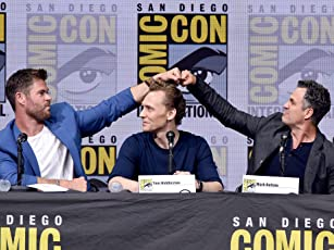 Mark Ruffalo, Tom Hiddleston, and Chris Hemsworth at an event for Thor: Ragnarok (2017)