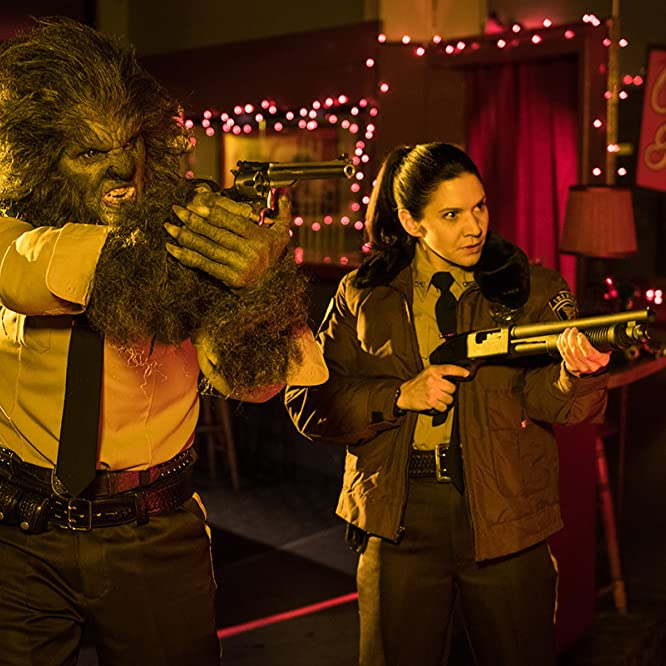 Leo Fafard and Amy Matysio in Another WolfCop (2017)