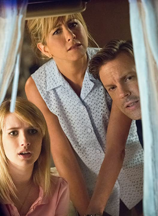 Jennifer Aniston, Emma Roberts, and Jason Sudeikis in We're the Millers (2013)