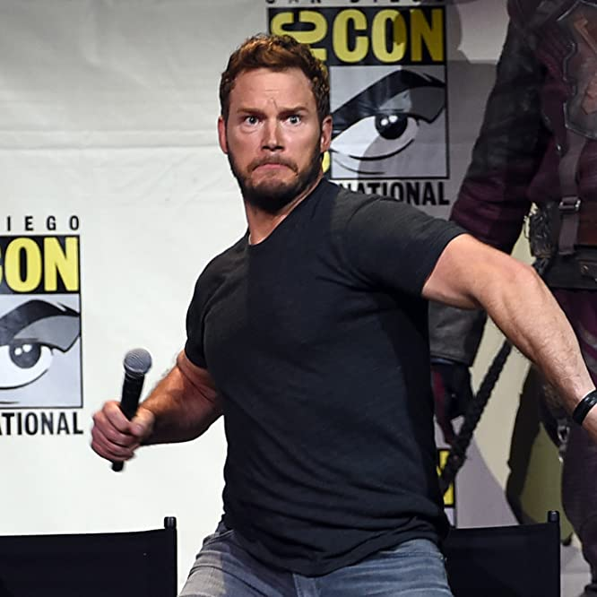 Chris Pratt at an event for Guardians of the Galaxy Vol. 2 (2017)
