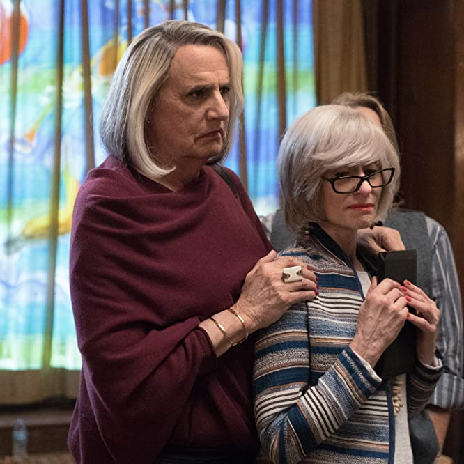 Gaby Hoffmann, Jeffrey Tambor, Cherry Jones, Judith Light, and Danny Jacobs in Transparent (2014)