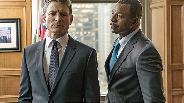 Carl Weathers and Philip Winchester in Chicago Justice (2017)
