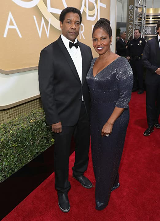 Denzel Washington and Pauletta Washington at an event for The 74th Golden Globe Awards (2017)