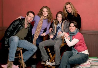 D.B. Sweeney, Elizabeth Perkins, Hallee Hirsh, Jessica Sharzer, and Kristen Stewart at Speak (2004)