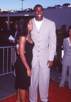 Magic Johnson and Cookie Johnson at an event for Hoodlum (1997)