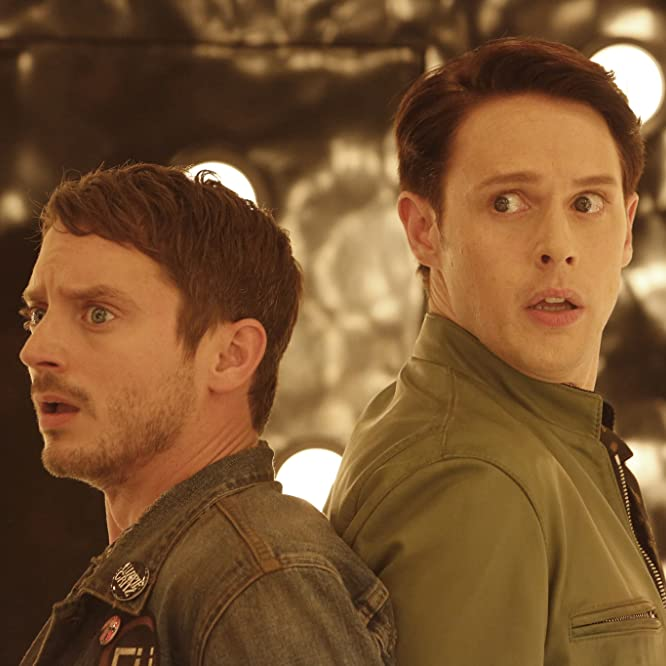 Elijah Wood and Samuel Barnett in Dirk Gently's Holistic Detective Agency (2016)