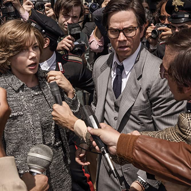 Mark Wahlberg y Michelle Williams en Todo el dinero en el mundo (2017)