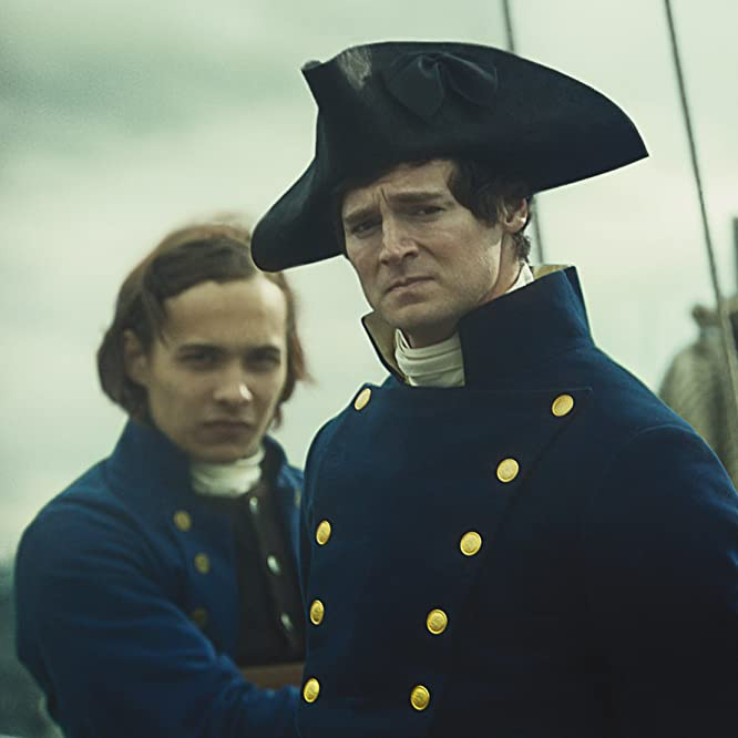 Frank Dillane and Benjamin Walker in In the Heart of the Sea (2015)