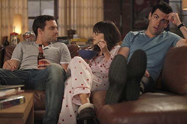 Zooey Deschanel, Max Greenfield, and Jake Johnson in New Girl (2011)