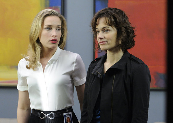 Piper Perabo and Sarah Clarke in Covert Affairs (2010)