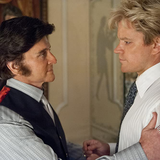 Michael Douglas and Matt Damon in Behind the Candelabra (2013)