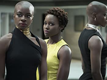 Florence Kasumba, Danai Gurira, and Lupita Nyong'o in Black Panther (2018)