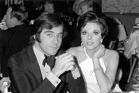 Anthony Newley with wife Joan Collins at Ambassador Hotel, c. 1964