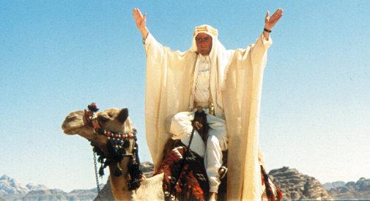 Peter O'Toole stars as T.E. Lawrence