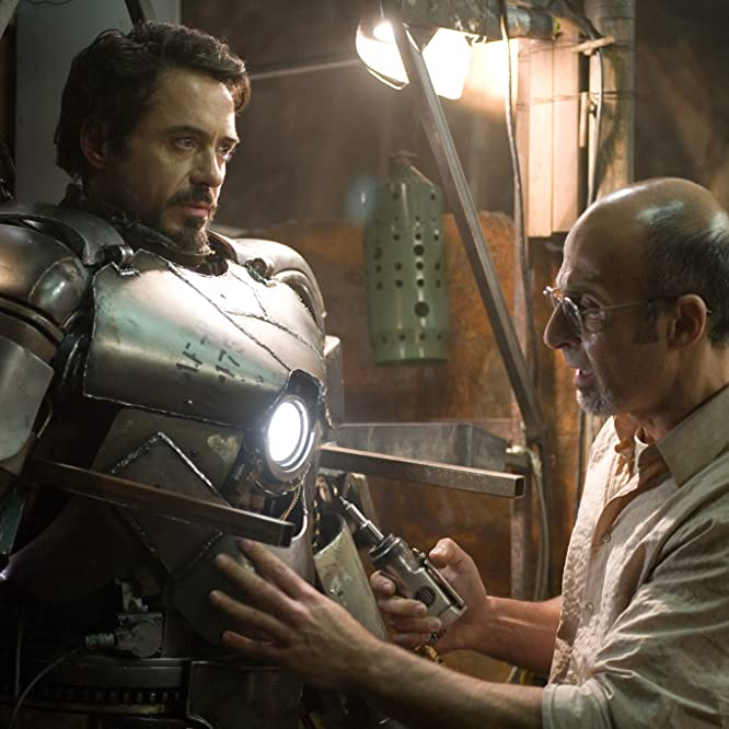 Robert Downey Jr. and Shaun Toub in Iron Man (2008)