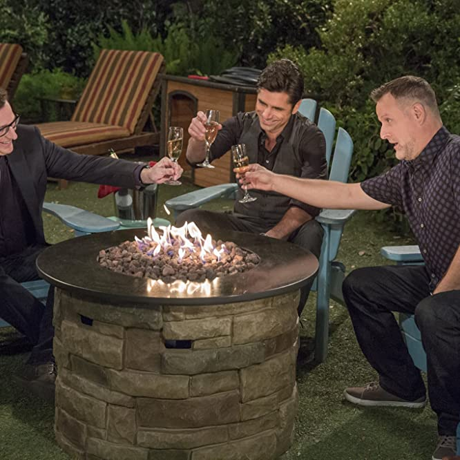 John Stamos, Dave Coulier, and Bob Saget in Fuller House (2016)