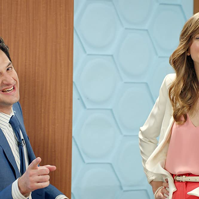 Lauren Lapkus and Ben Schwartz in The Earliest Show (2016)