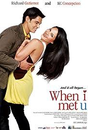 When I Met U Poster