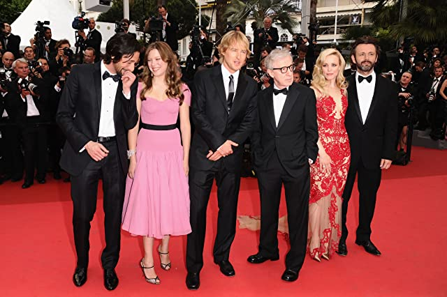 Woody Allen, Adrien Brody, Owen Wilson, Michael Sheen, Rachel McAdams, and Léa Seydoux at an event for Midnight in Paris (2011)