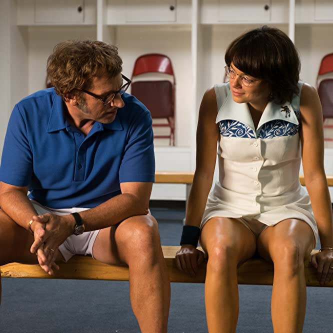 Steve Carell and Emma Stone in Battle of the Sexes (2017)